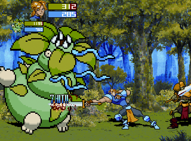 Guardian Heroes with Han, Goldie, and Giant Plant